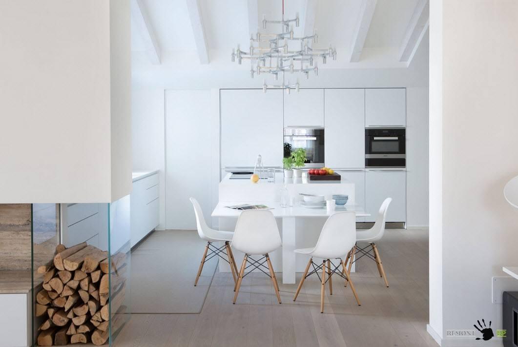 Ламинат для кухни-столовой
