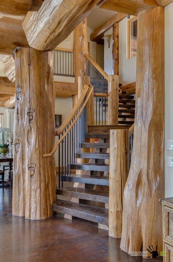 Лестница среди стволов