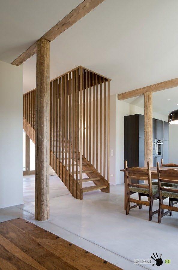 В деревянном исполнении