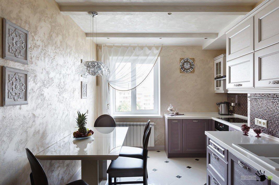 Описание: Нео-классика в кухонном помещении