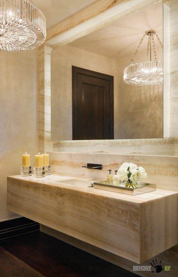 Пастельные тона ванной комнаты