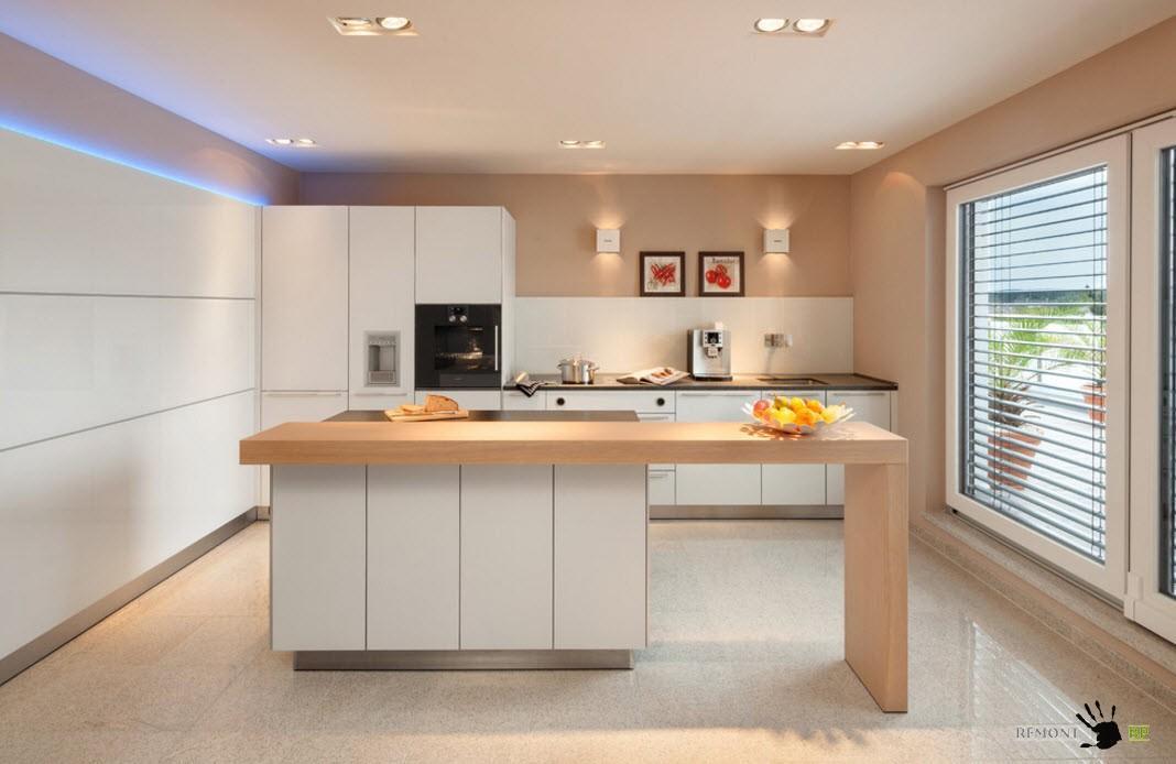 Белый и пастельный  для кухонного дизайна