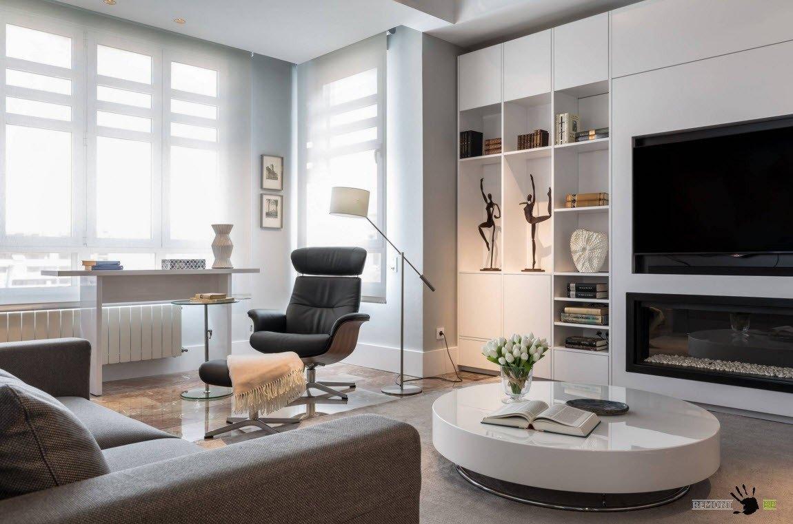 Мини-кабинет в гостиной