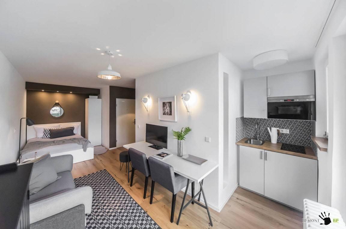 Спальня-гостиная-кабинет-кухня