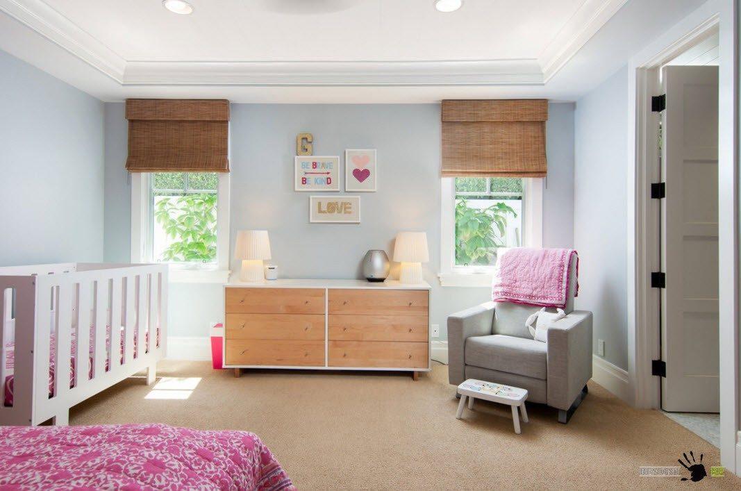 Зона для младенца в спальне родителей