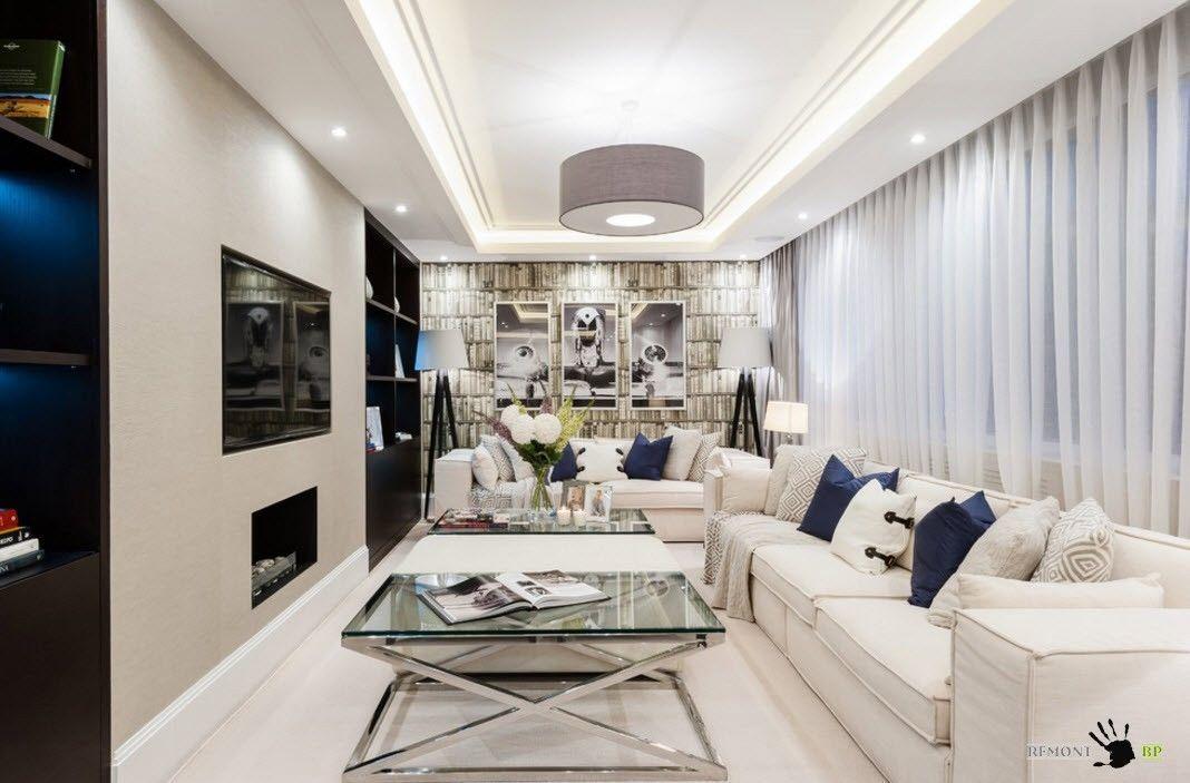 Современная гостиная с элементами модерн