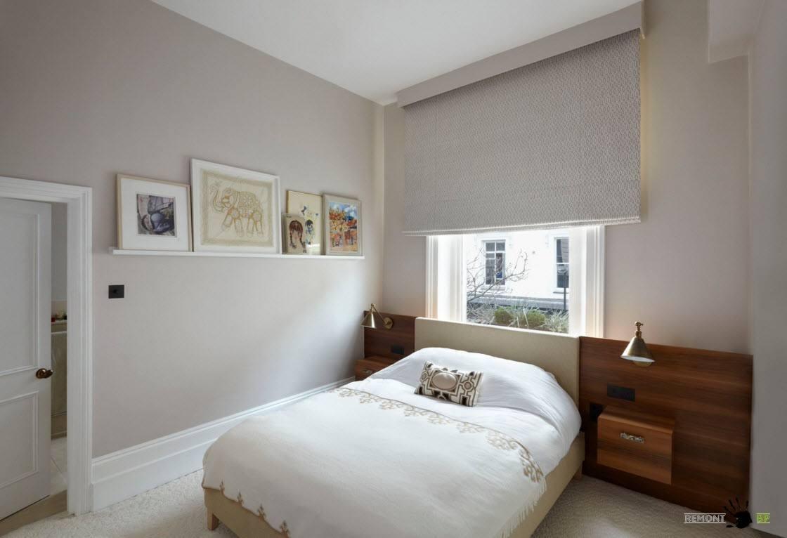 Рулонные шторы для маленькой спальни