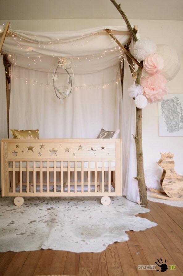 Дизайнерское решение места для младенца
