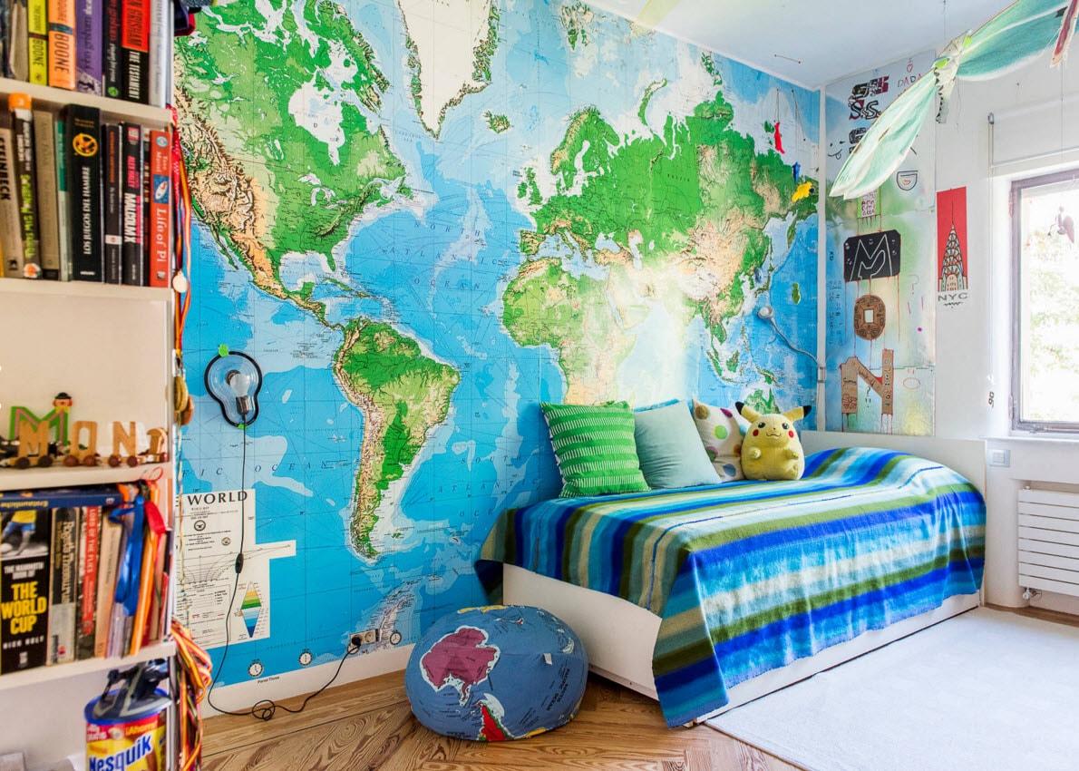 Карта во всю стену