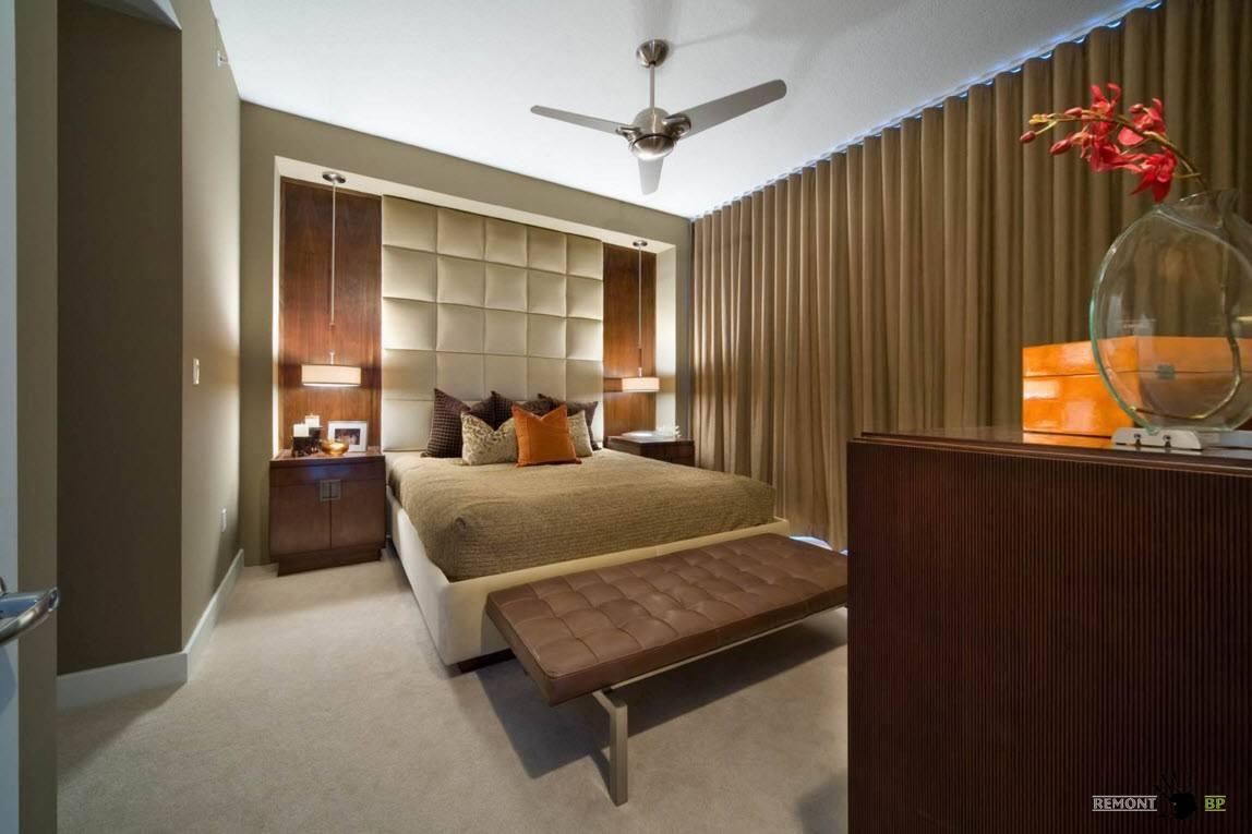 Природные отенки в оформлении спальни