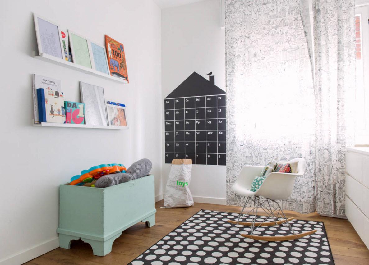 Детская комната с оригинальными элементами