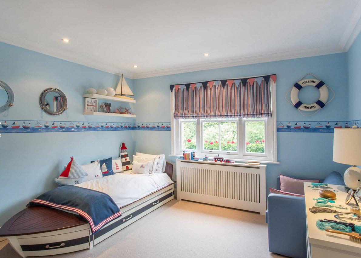 Морской стиль для детской комнаты