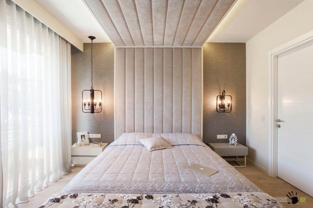 Необычное оформление спального места