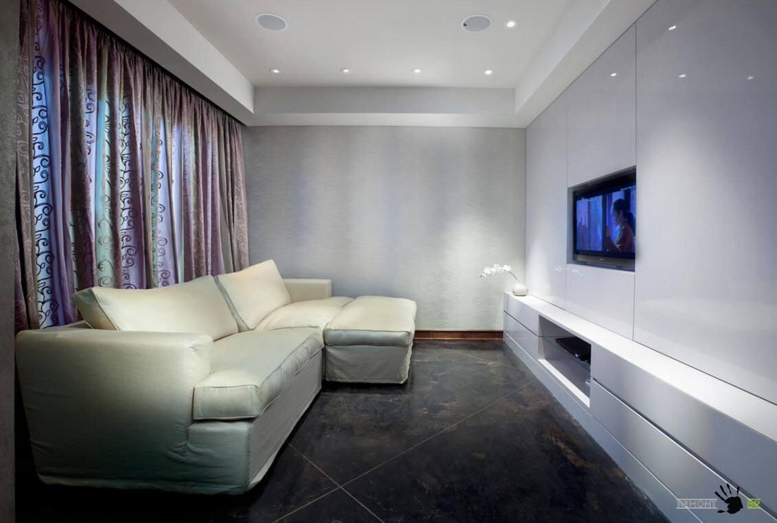 Плотные шторы с рисунком для гостиной