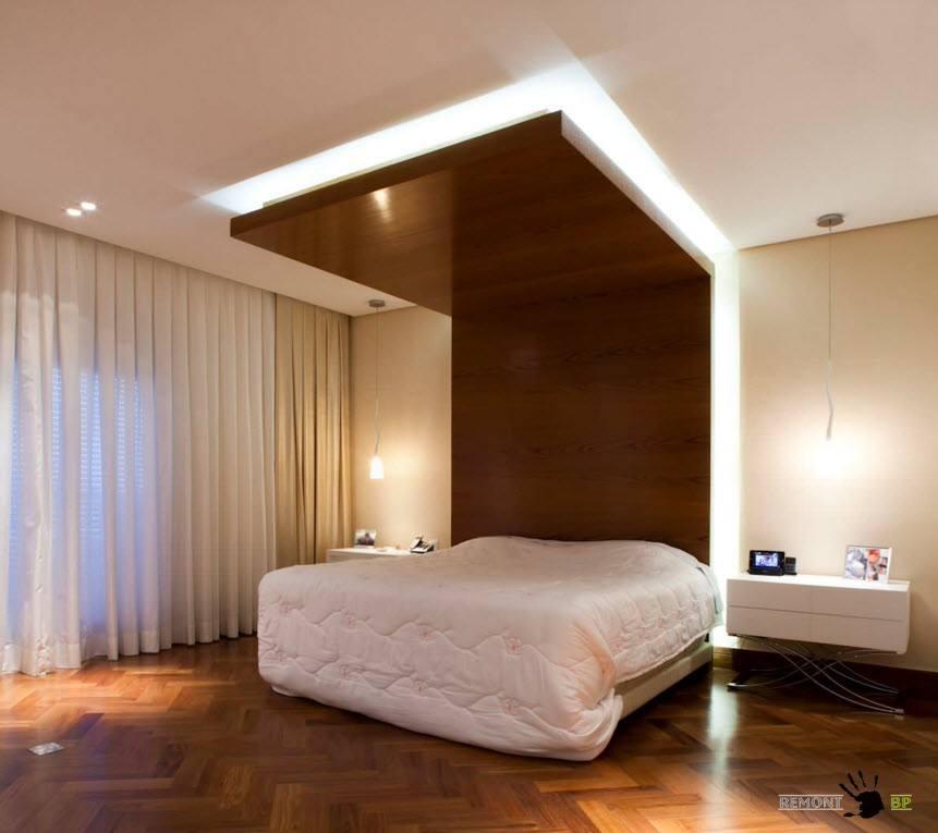 Выделение зоны спального места