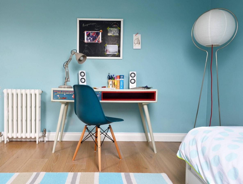 Комната в голубых тонах