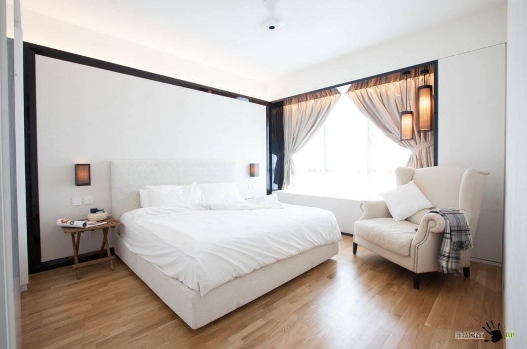 Черная окантовка в спальном помещении