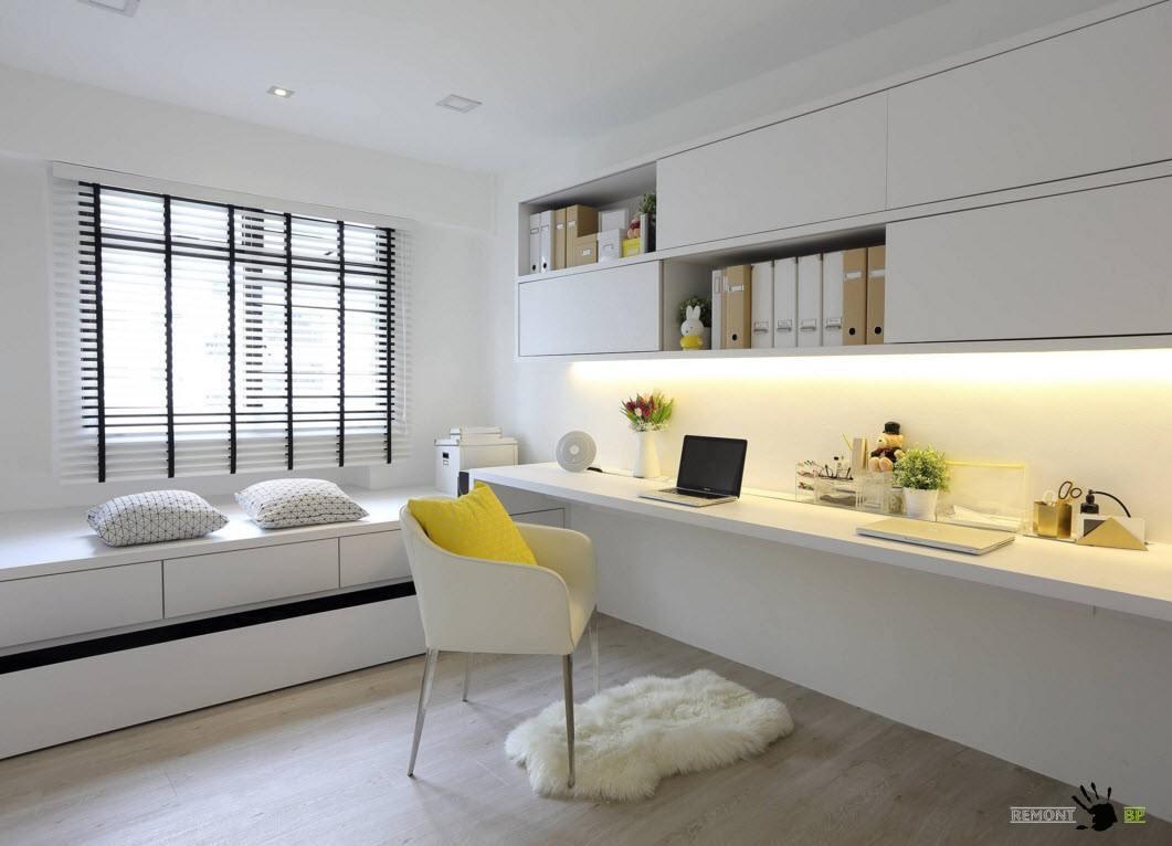 Белая мебель для кабинета