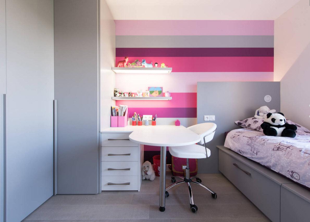 Серый цвет и сочетания розовых оттенков