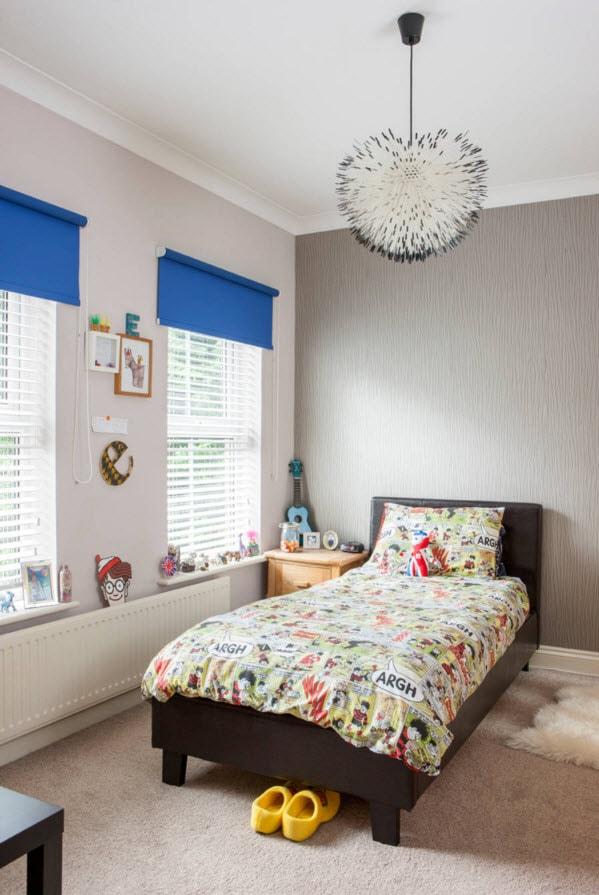 Пестрый текстиль для детской комнаты