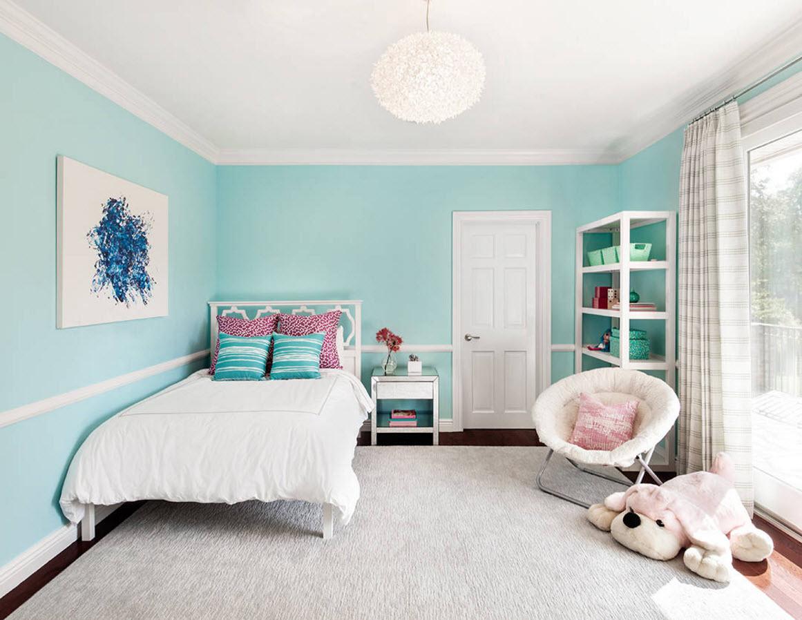Голубые стены для детской комнаты