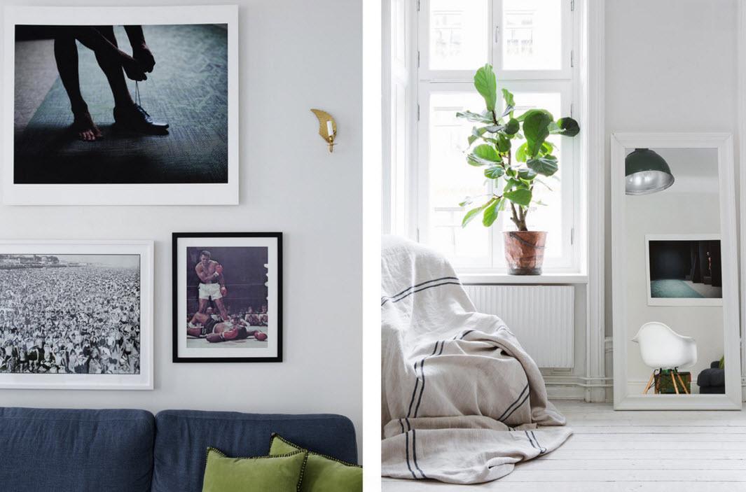 Контрастные картины и фото на стенах