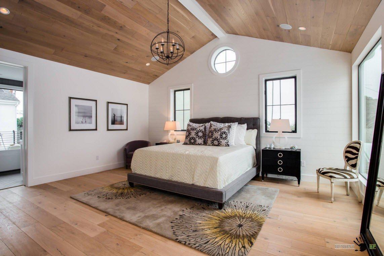 Имитация деревянных поверхностей на потолке