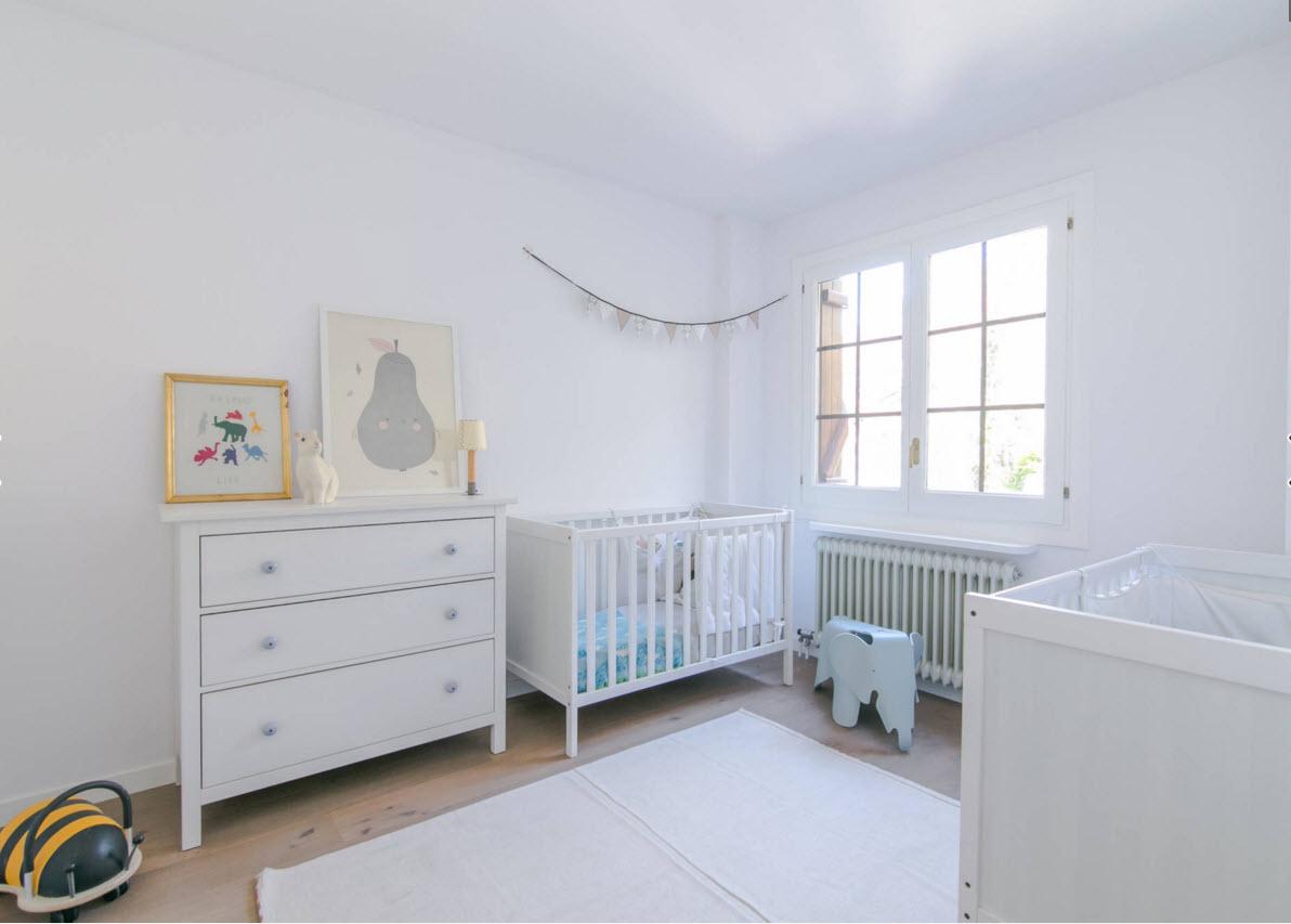 Белоснежная детская комната