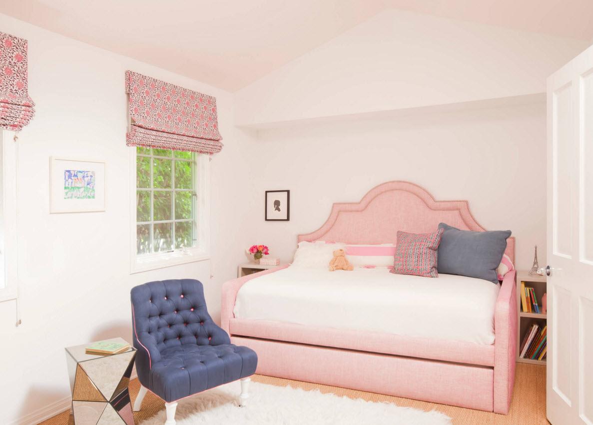 Нежный розовый для комнаты девочки