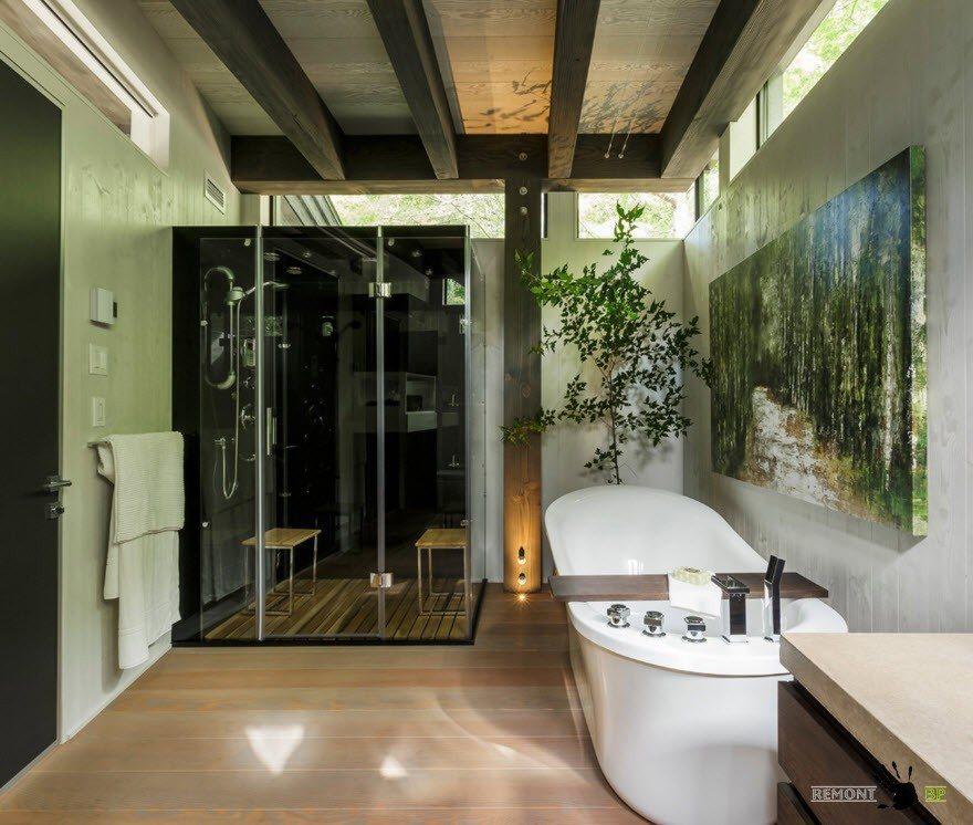 Эко-стиль в современной ванной