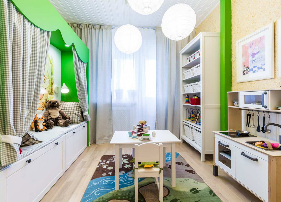 Контрастный зеленый для украшения детской