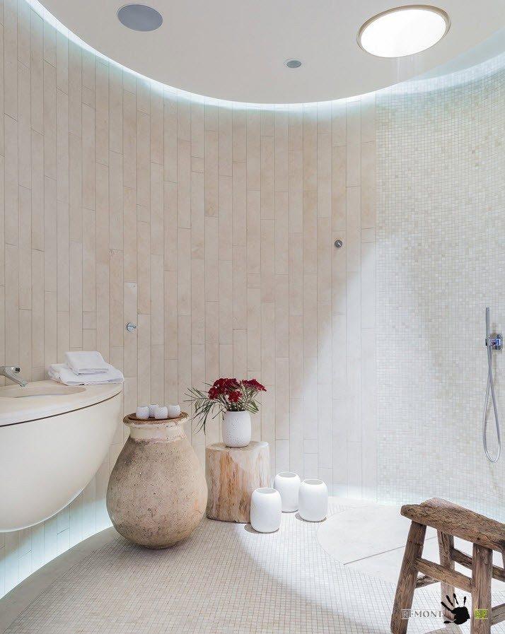 Ванная комната округлой формы