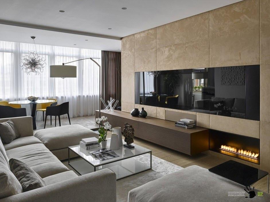 Современная мебель для гостиной-столовой