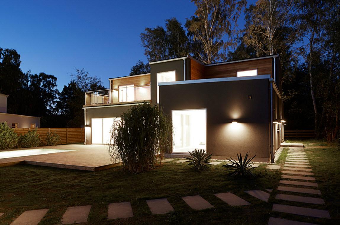 Экстерьер дома и ландшафтный дизайн участка
