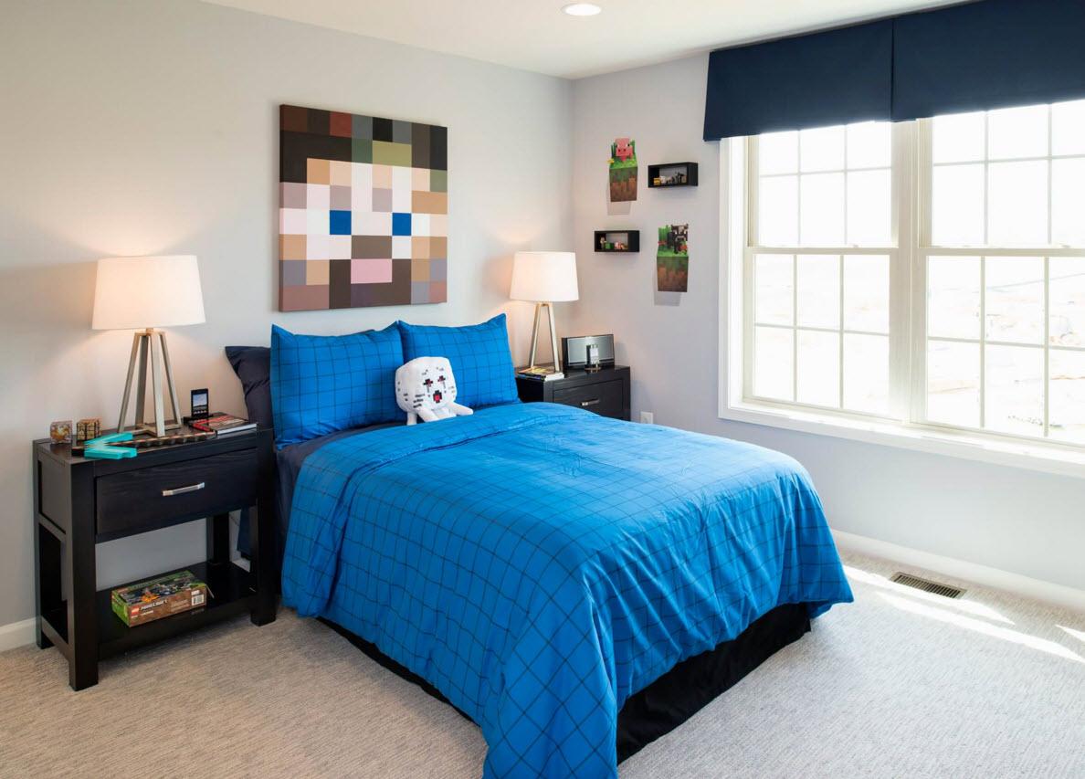 Лаконичное оформление комнаты для мальчика