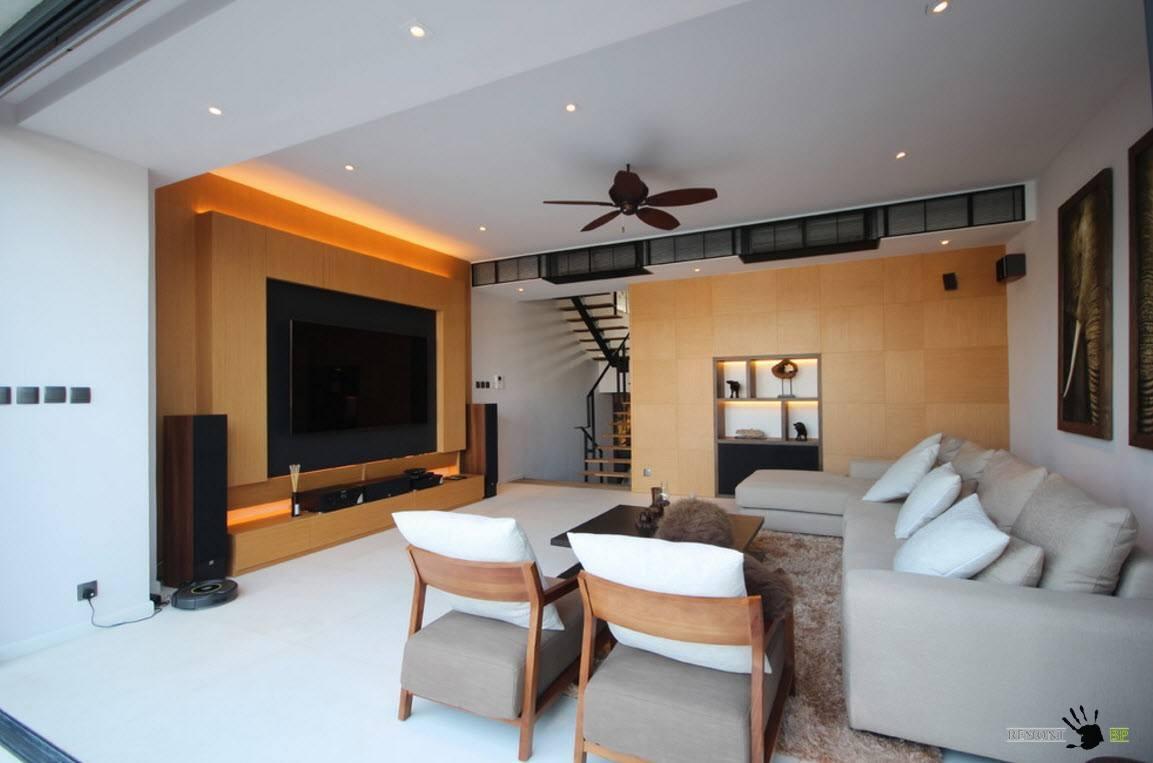 Потолок с встроенными светильниками