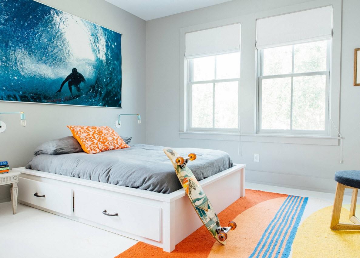 Нотки спортивной жизни в дизайне комнаты