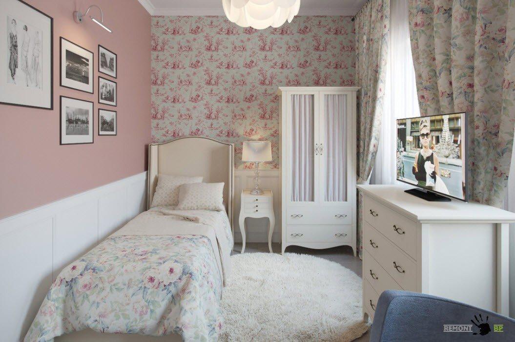 Романтичный стиль для девичьей спальни
