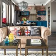 Эклектичный дизайн современной квартиры