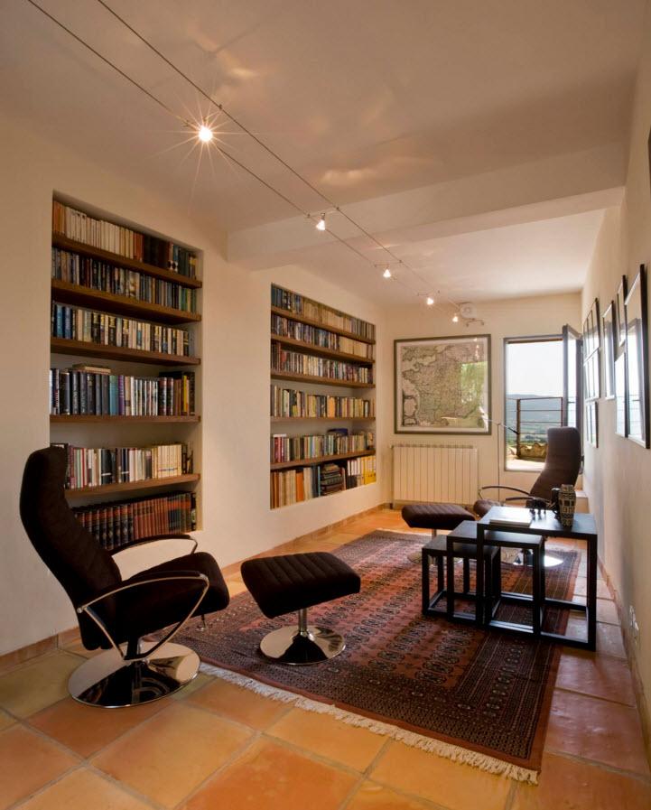 Книжные полки, шкафы и стеллажи: 101 фото идея