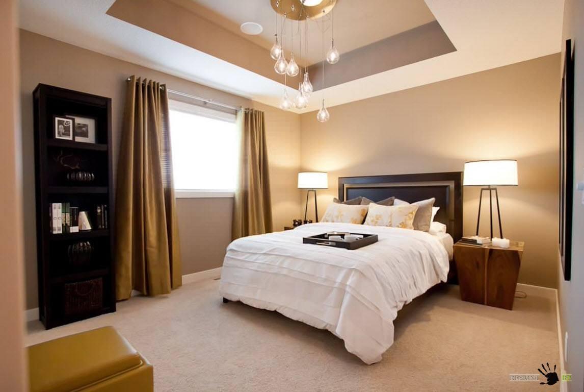 Спальни интерьер потолок 108