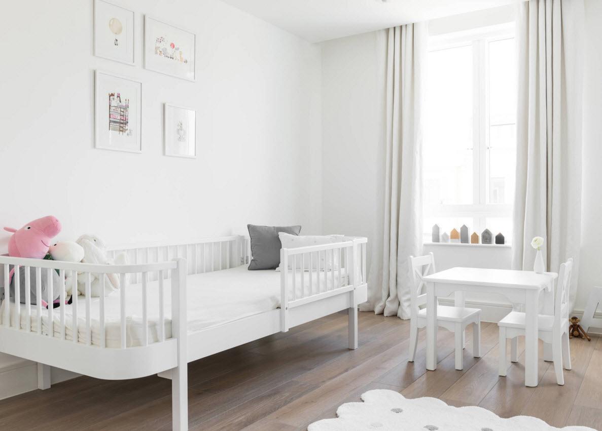 Белоснежная комната для ребенка