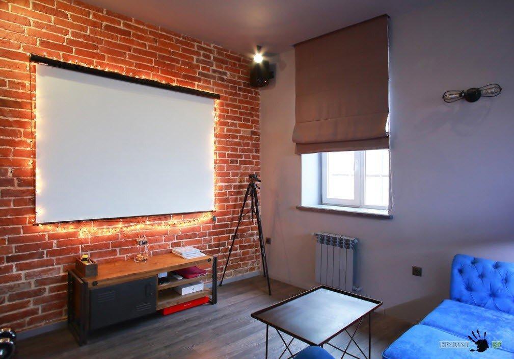 Декор окна для современной гостиной