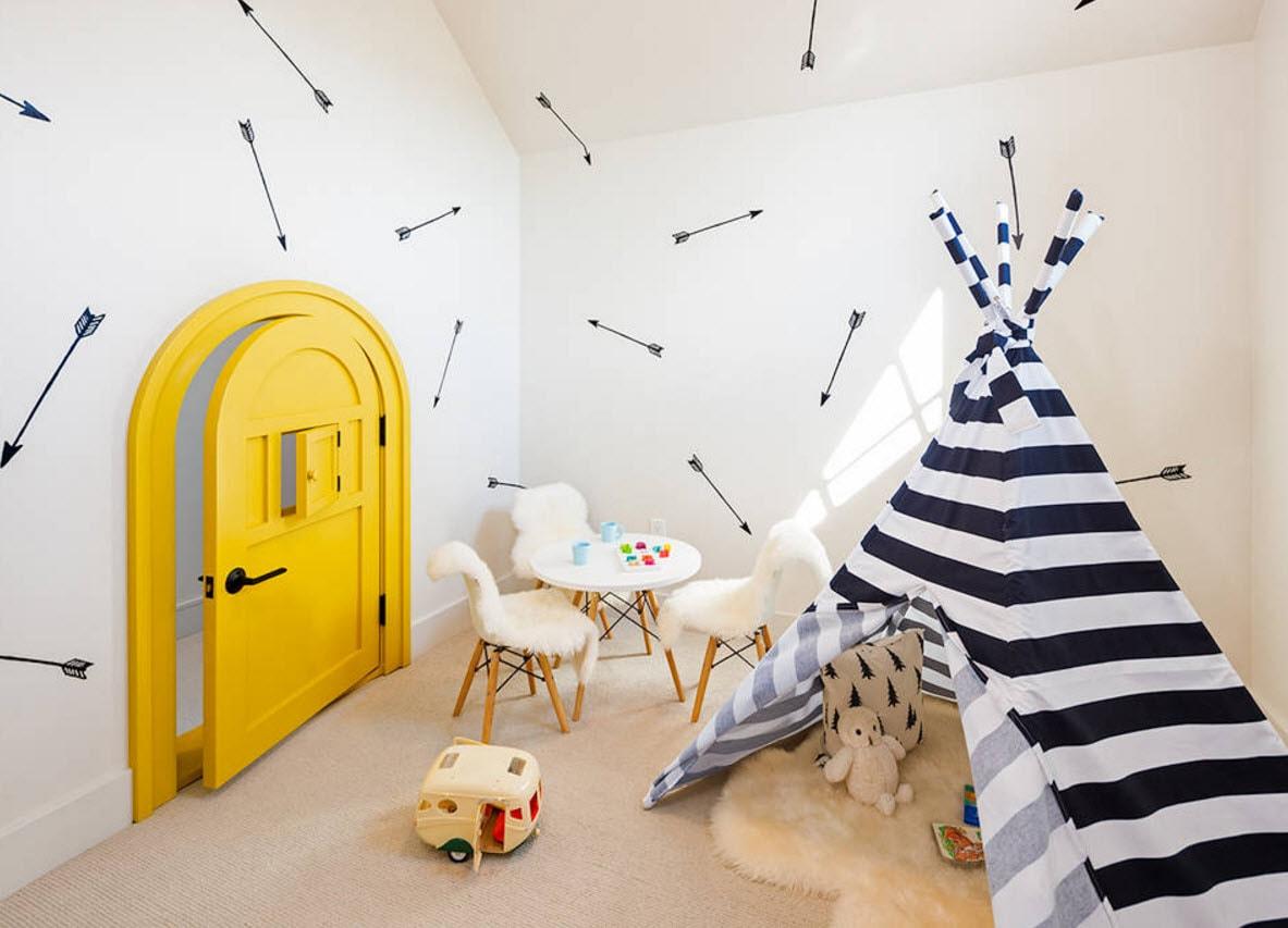 Дизайн комнаты с вигвамом