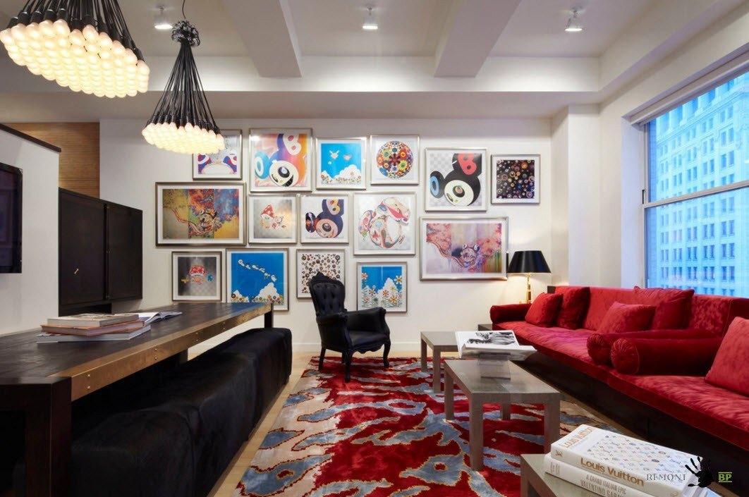 Яркие цветовые решения для мебели