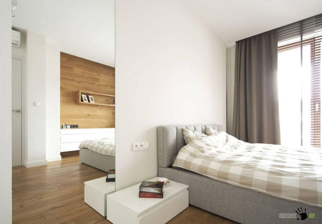 Большие зеркала в спальне