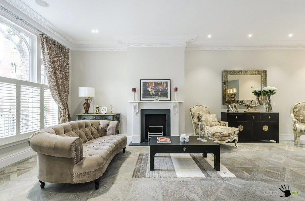 Мягкая мебель для классической гостиной