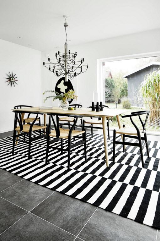 Контрастный интерьер столовой