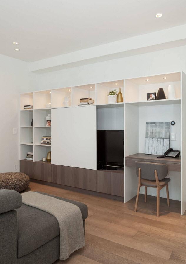 Рабочее место в мебельном ансамбле