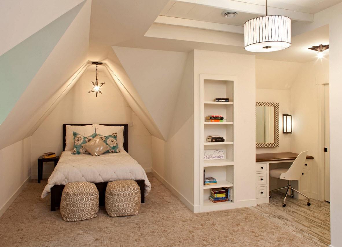 Детская комната с непростой архитектурой